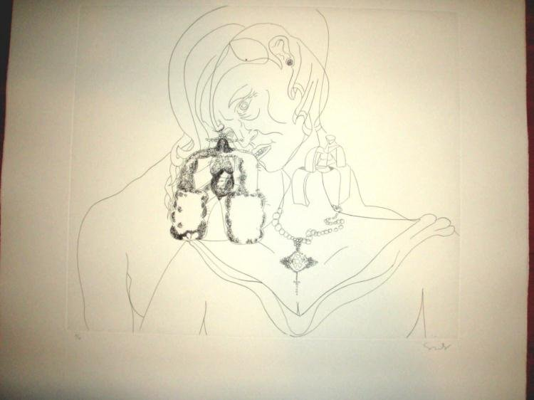 Condo Sketches of Spain for Miles Davis #3 Etching S/N