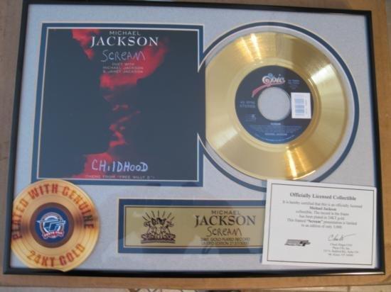 Michael Jackson 24 kt. Gold plated Record Scream
