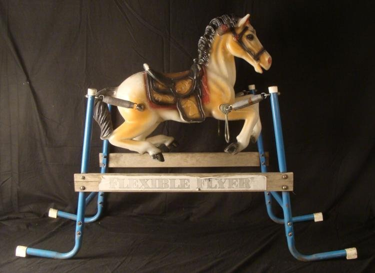 Flexible Flyer Vintage Bouncing Riding Hobby Horse Toy
