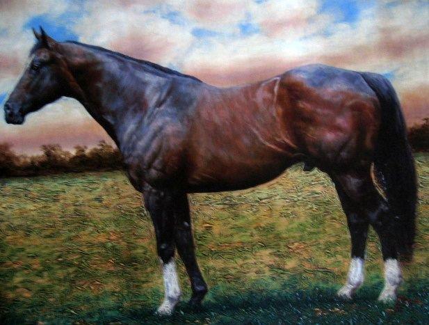Pedro Tapia Original Painting Horse 1