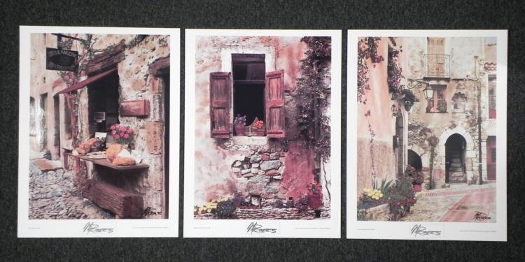 3 Martin Roberts Signed Photographs Europe Cat, Bread