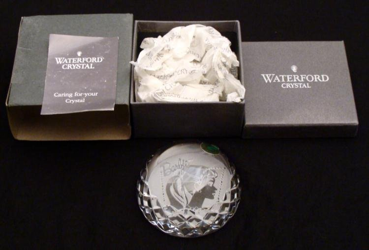 Waterford Crystal Barbie Doll Paperweight MIB Rare