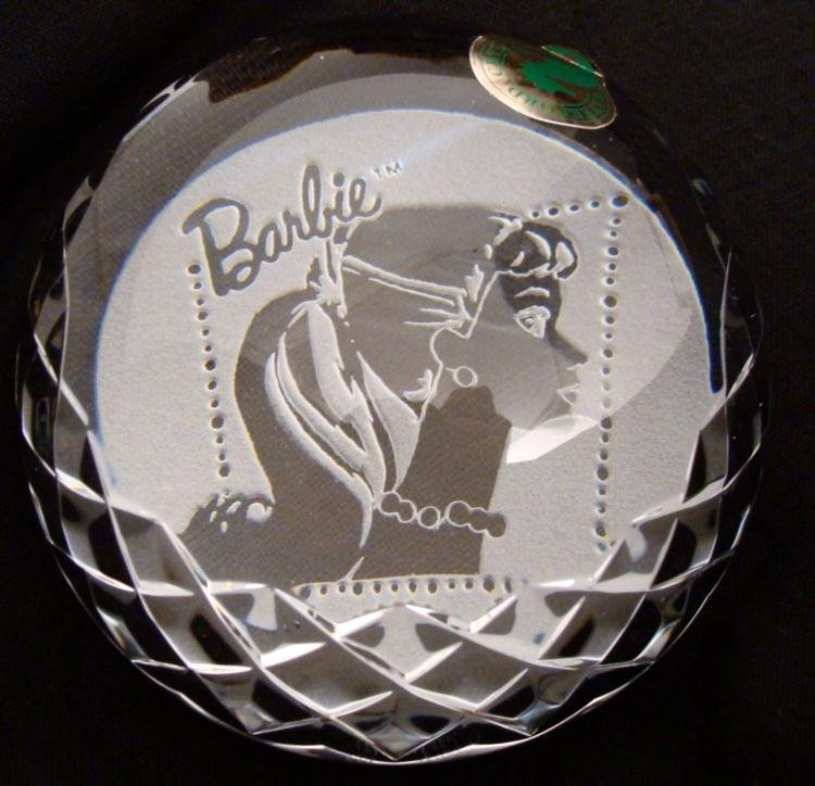 Waterford Crystal Barbie Doll Paperweight MIB Rare - 2