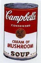 Warhol Print Campbell's Soup Can Cream of Mushroom
