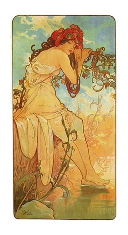 Alphonse Mucha : Summer Art Print