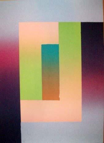 Larry Bell Signed LE Art Print Barcelona 5