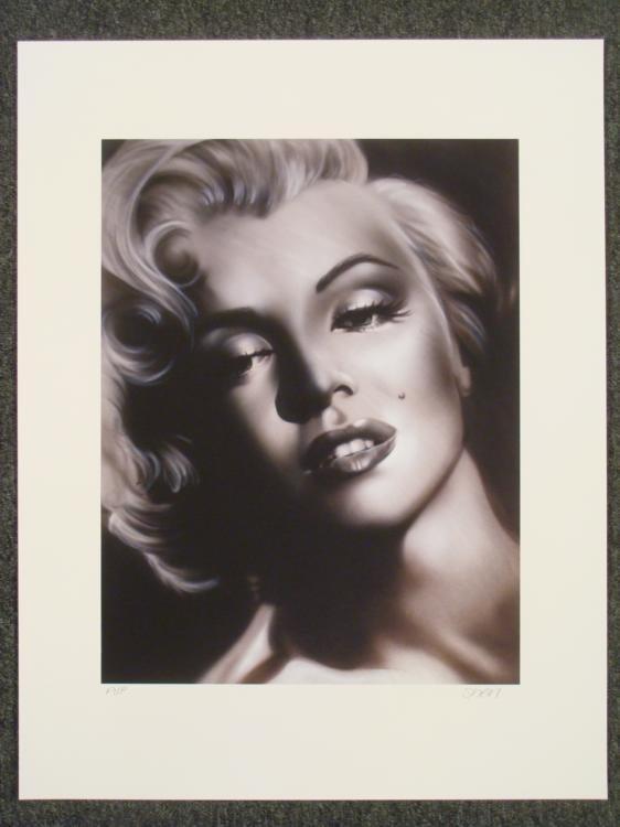 Shen Signed AP Print Marilyn Monroe Defying Beauty