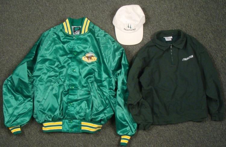 Arlington Race Track Jacket Pull-Over Adjustable Hat