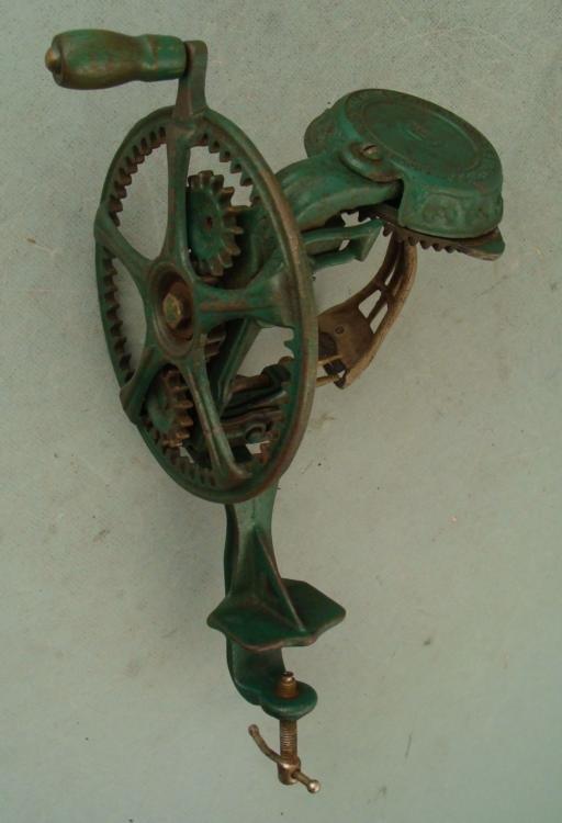 Reading Hardware Antique Cast Iron Apple Peeler 1800s