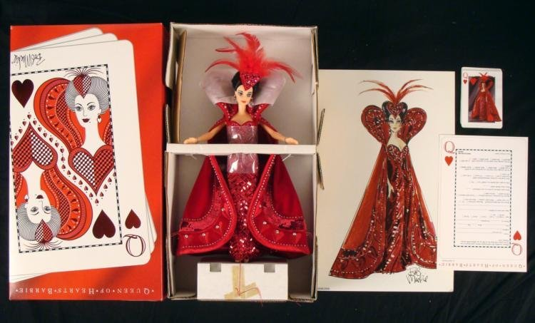 Bob Mackie Queen of Hearts Barbie Doll Mint in Box