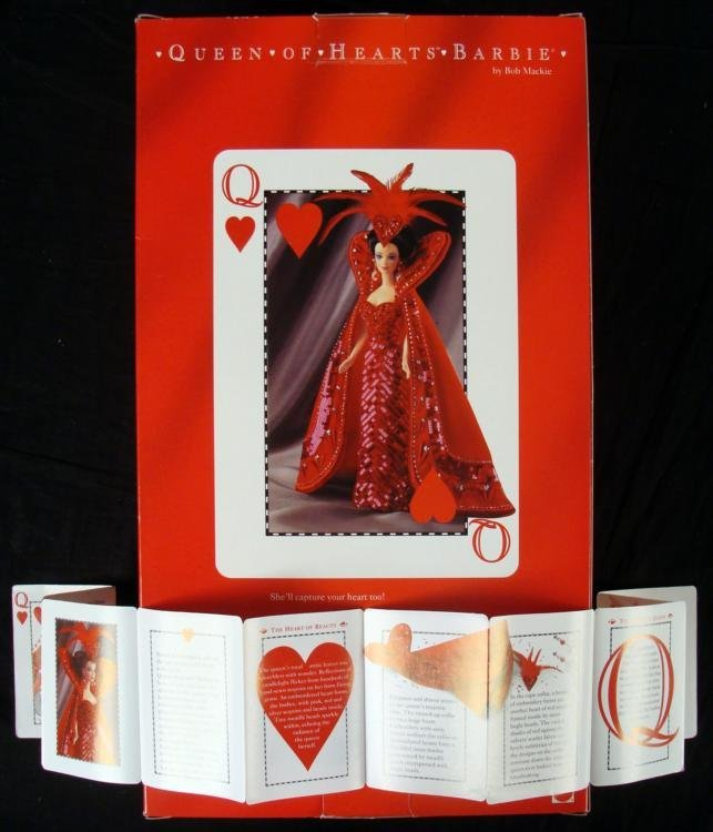 Bob Mackie Queen of Hearts Barbie Doll Mint in Box - 3