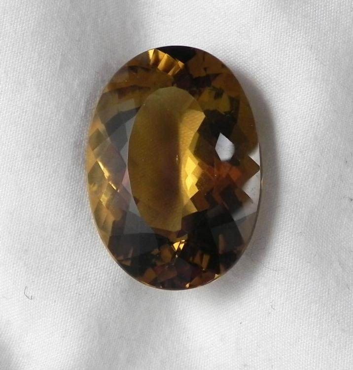 Natural Citrine Oval Cut Gemstone