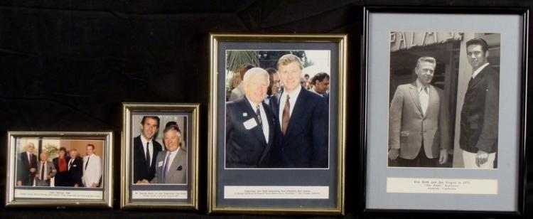 4 Don Roth Mayor of Anaheim CA Framed Photos