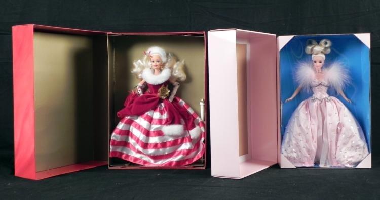 2 Barbie Dolls Peppermint Princess Pink Ice Mattel MIB