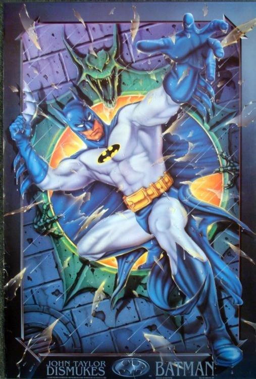 Batman Dismukes Large Art Lithograph 24 x 36