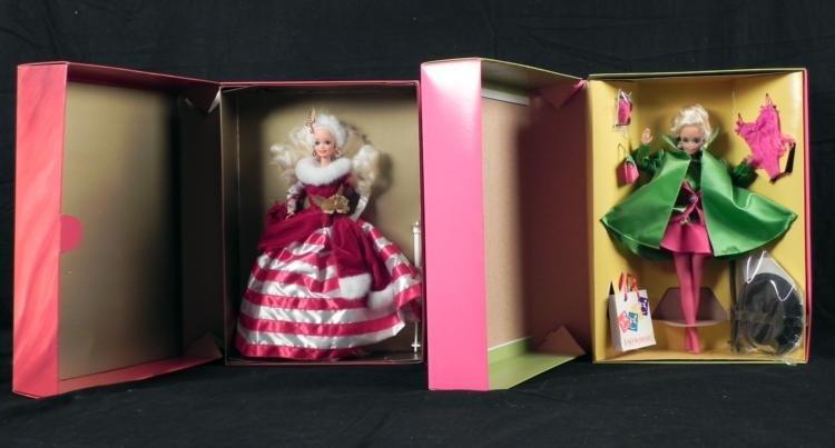 2 Barbie Dolls Peppermint Princess Madison Avenue MIB