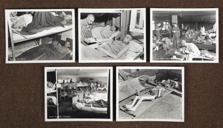 5 RARE WWII ORIGINAL DACHAU CONCENTRATION CAMP PHOTOS
