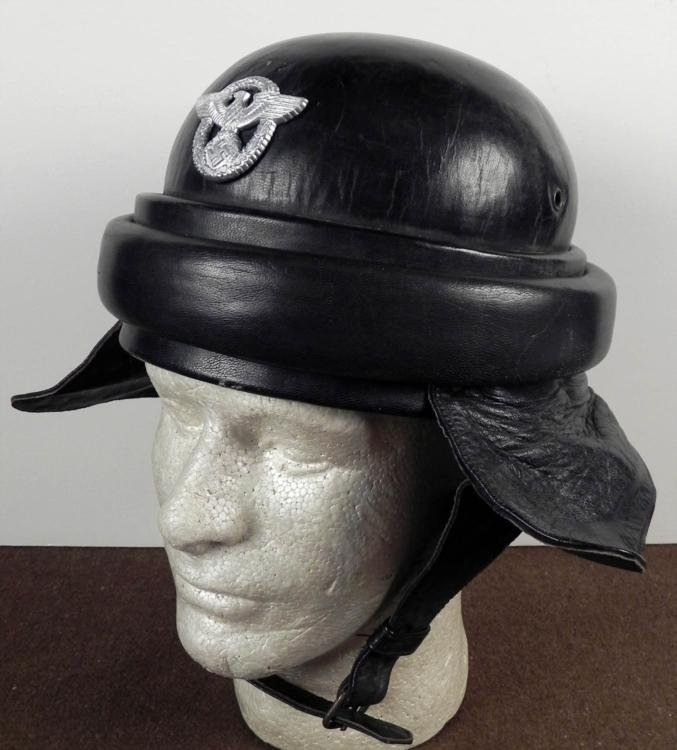 WWII NAZI NSKK POLICE MOTORCYCLE CRASH HELMET