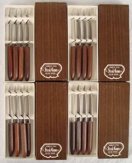 16 Stainless Steel Wood Handle Steak Knives Japan