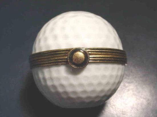 Authentic French porcelain Golf Limoges box trinket