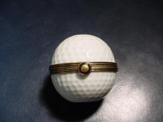 Authentic French porcelain Golf Limoges box trinket - 2