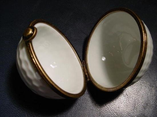 Authentic French porcelain Golf Limoges box trinket - 3