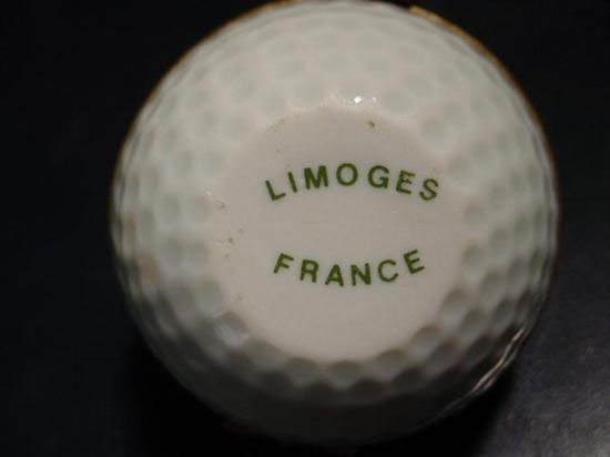 Authentic French porcelain Golf Limoges box trinket - 4