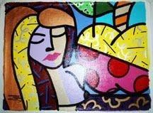 Jozza Original Pop Art Painting Girl Female