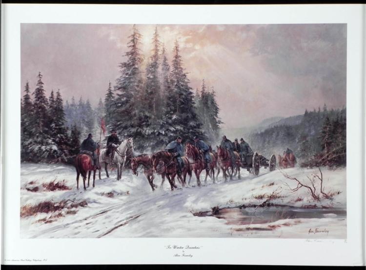 To Winter Quarters Alan Fearnley Civil War Art Print