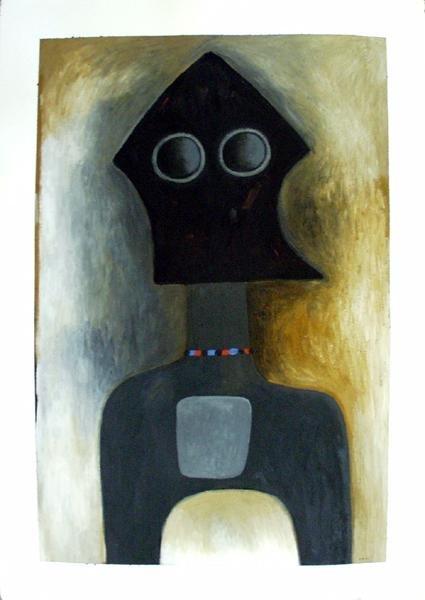 Ephrem Kouakou : Untitled XVII (Black Figure Necklace)