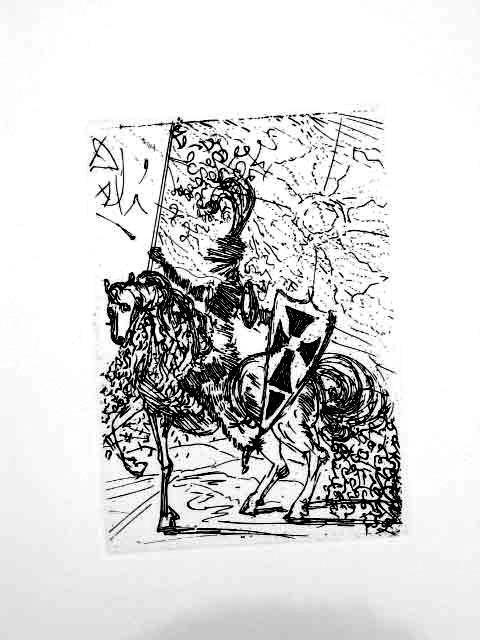 Salvador Dali Posthumous Etching El Cid