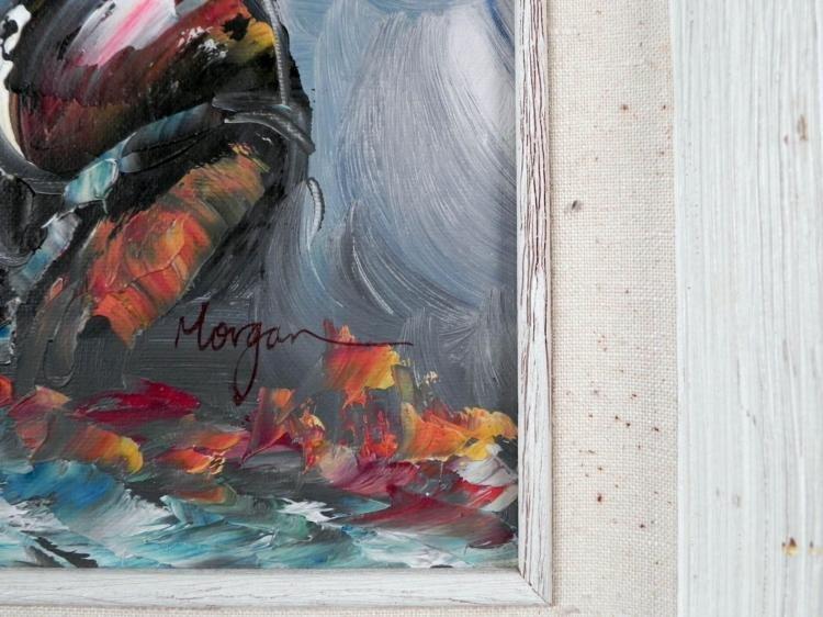 Morgan Original Painting Clown Musician -Framed - 3