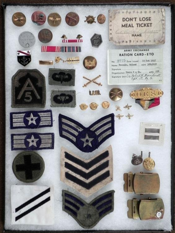 LARGE COLLECTION OF U.S. MILITARY FROM WWI TO VIETNAM
