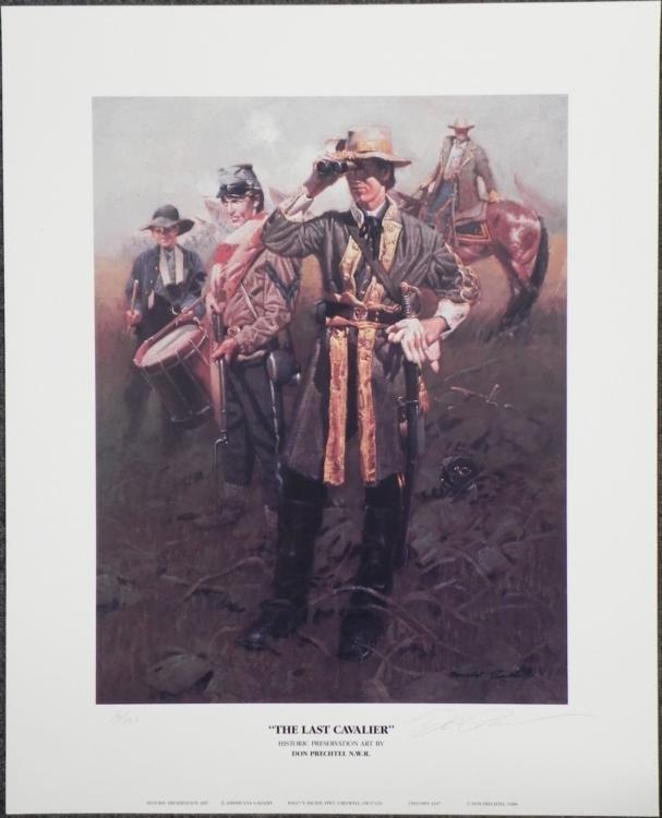 The Last Cavalier Civil War Don Prechtel Art Print