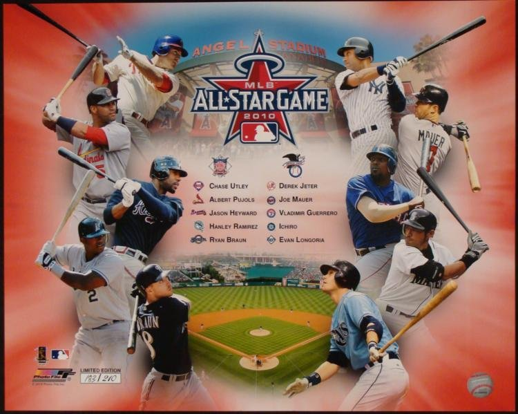 2010 All-Star Game Limited Edition Collage Anaheim CA