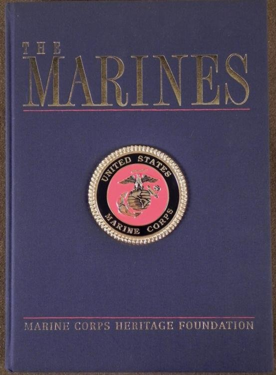 LARGE FORMAT HARD COVER BOOK THE MARINES