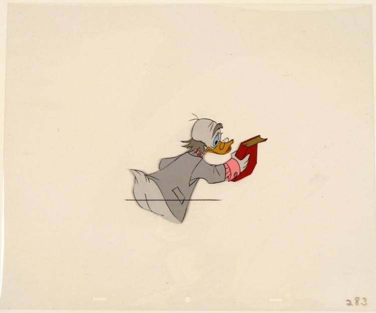 Animation Cel Original Ludwig Von Drake Disney Return