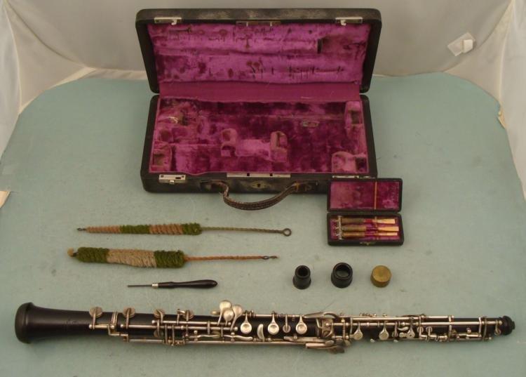 A.E. Fischer Bremen Vintage German Oboe In Case