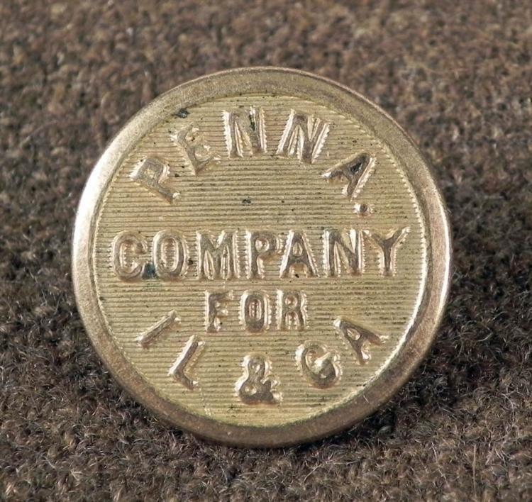 Pennsylvania Railway Antique Train Conductors Button