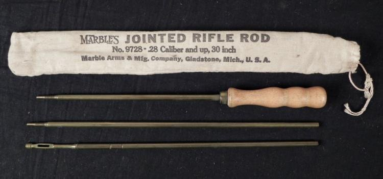 """VINTAGE MARBLE ARMS 30"""" CLEANING ROD FOR 30"""" RIFLES"""