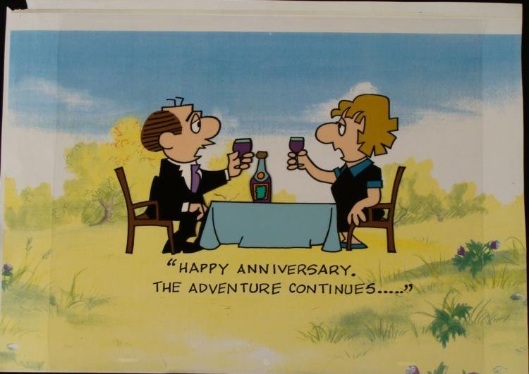 The Lockhorns Orig Cel Background Animation Anniversary