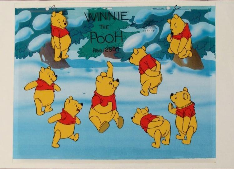 Original Winnie The Pooh Cel Background Animation Art