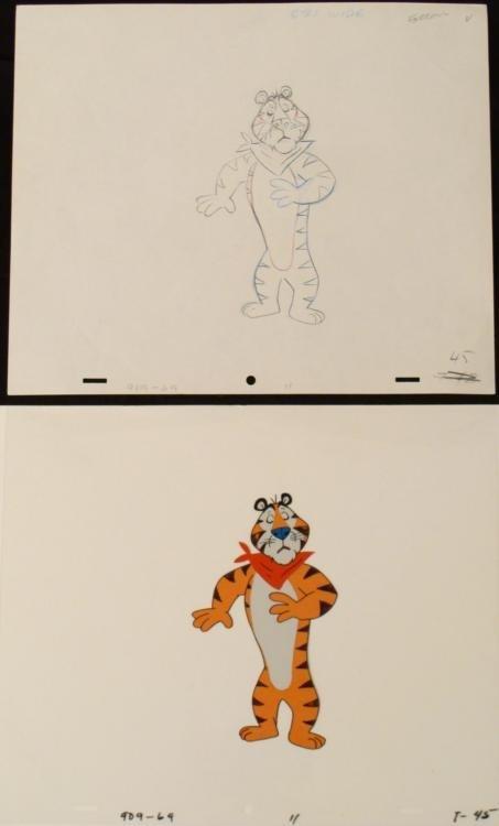 Drawing Cel Original Silence Tony the Tiger Animation