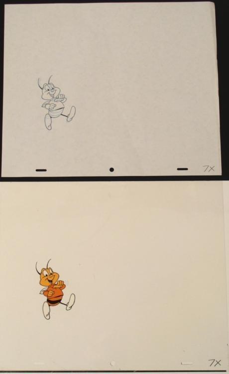 Orig Animation Honey Nut Cheerios Cel Drawing Bee Art