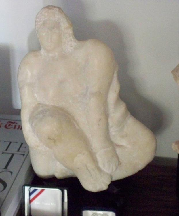 Betty Snyder Rees Orig Carrera Marble Sculpture Nude