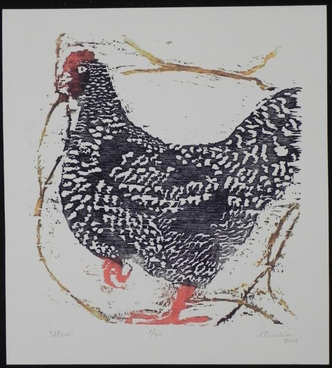 Betty Snyder Rees Original Signed Numberd Print Hen
