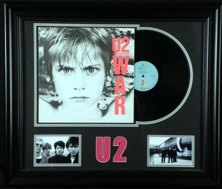 U2 War Vintage Record Album in Custom Frame