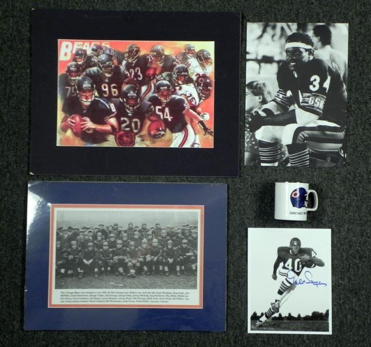 Chicago Bears Lot- Signed Sayers Photo Team Photo Print