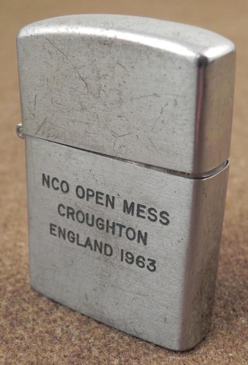 VIETNAM ERA LIGHTER NCO OPEN MESS CROUGHTON ENGLAND