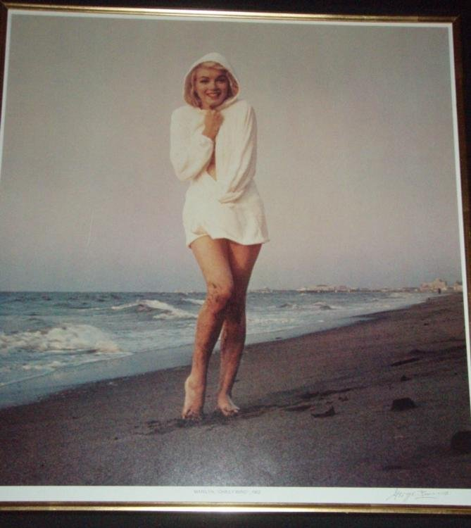 Marilyn Monroe Photograph Signed by George Barris-Windy